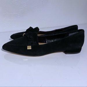 Nanette Lepore Black a suede Frankie Ballet Flats